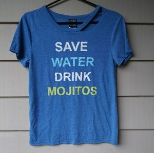 Modern Lux Tops - Modern Lux Save Water Drink Mojitos T Shirt Small